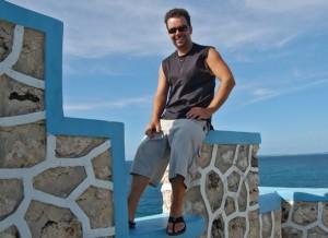 Matt relaxing in Jamaica