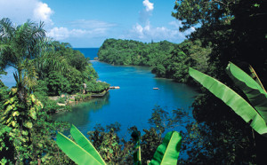 World Famous Blue Lagoon in Jamaica