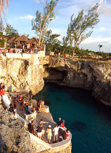 Cliff Jumping at Rick's Cafe in Jamaica
